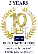 10 best awards for client satisfaction from the American Institute of Family Law Attorneys