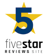 5 star review site badge
